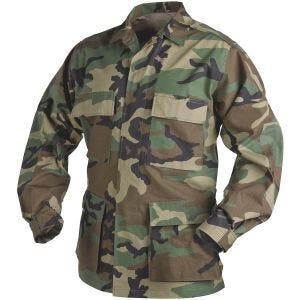 Camisa Helikon Genuine BDU de Ripstop de polialgodón en Woodland