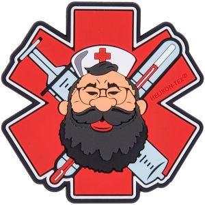 Parche Helikon Beardman Medic en rojo