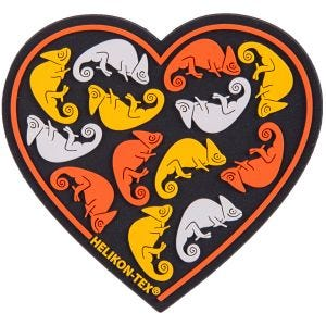 Parche Helikon Heart en negro