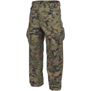 Pantalones Helikon SFU NEXT de Ripstop de polialgodón en Woodland polaco