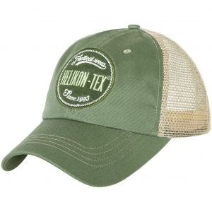 Helikon Trucker Logo Cap Cotton Twill Green