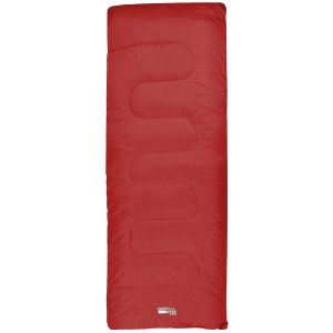 Saco de dormir rectangular Highlander Sleepline 250 en rojo