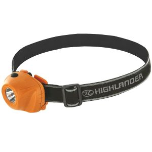 Linterna frontal Highlander Beam con luz LED de 1 W en naranja / negro