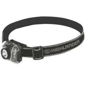 Linterna frontal Highlander Flame de 3 + 4 luces LED en negro