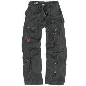 Pantalones de estilo cargo Surplus Infantry en negro