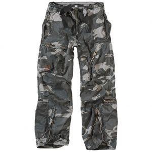 Pantalones de estilo cargo Surplus Infantry en Night Camo