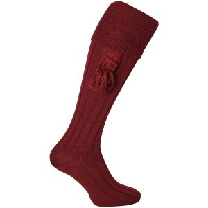 Jack Pyke Plain Shooting Socks Burgundy