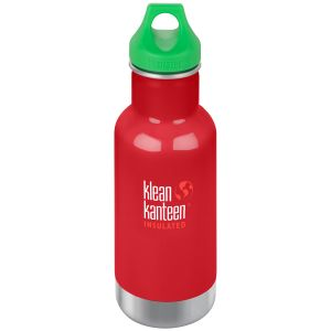 Botella térmica Kid Kanteen Classic con tapón con agujero de 355 ml en Mineral Red