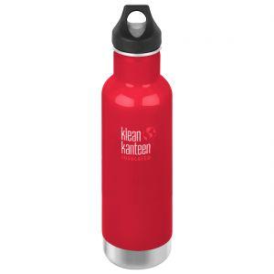Botella térmica Klean Kanteen Classic con tapón con agujero de 592 ml en Mineral Red