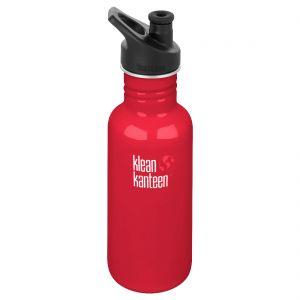 Botella Klean Kanteen Classic con tapón deportivo 3,0 de 532 ml en Mineral Red