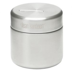 Lata para comida Klean Kanteen de pared simple y capacidad de 237 ml en Brushed Stainless