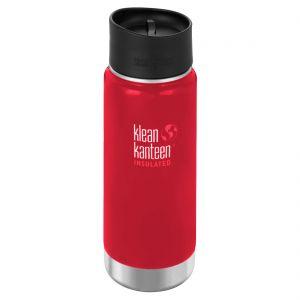 Botella térmica Klean Kanteen Wide Mouth con tapa 2.0 con agujero para beber de 473 ml en Mineral Red