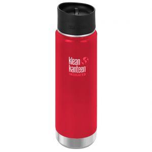 Botella térmica Klean Kanteen Wide Mouth con tapa 2.0 con agujero para beber de 592 ml en Mineral Red