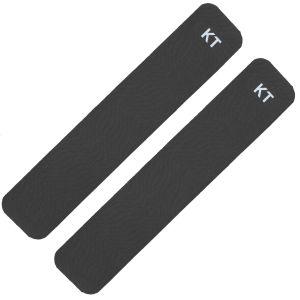 2 tiras adhesivas de algodón KT Tape en negro