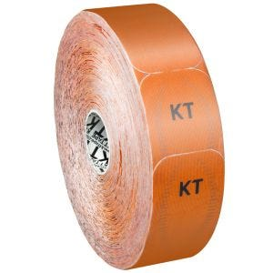 Cinta adhesiva KT Tape Synthetic Pro tiras individuales en rollo grande en Blaze Orange