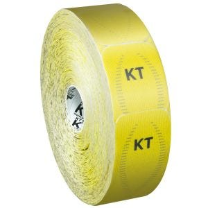 Cinta adhesiva KT Tape Synthetic Pro tiras individuales en rollo grande en Solar Yellow