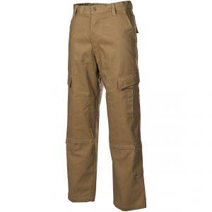 Pantalones de combate MFH ACU de Ripstop en Coyote Tan