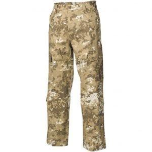 Pantalones de combate MFH ACU de Ripstop en Vegetato Desert