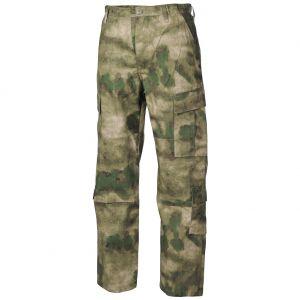 Pantalones MFH ACU Combat de Ripstop en HDT Camo FG
