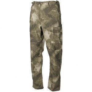 Pantalones MFH BDU Combat de Ripstop en HDT Camo AU