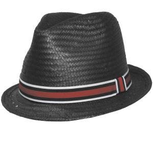 Sombrero de ala pequeña Fox Outdoor Players en negro y rojo