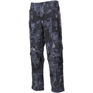 Pantalones MFH Mission Combat de Ripstop en Snake Black