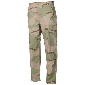 Pantalones MFH BDU Combat de Ripstop en Desert 3 Colores