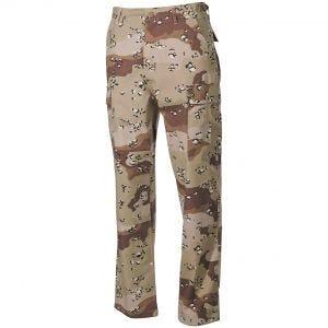 Pantalones MFH BDU Combat de Ripstop en Desert 6 Colores