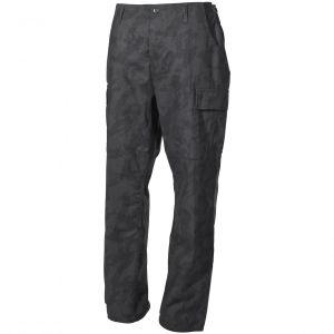 Pantalones MFH BDU Combat de Ripstop en Night Camo