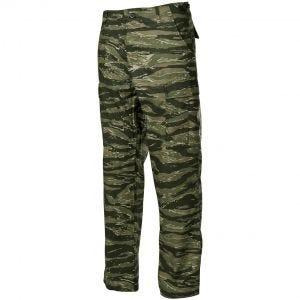 Pantalones MFH BDU Combat de Ripstop en Tiger Stripe