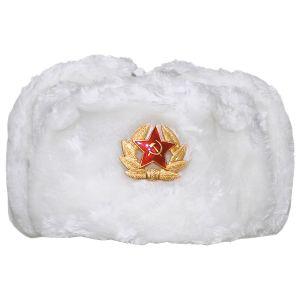 Gorro de invierno MFH Russian con insignia en blanco