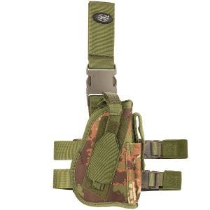 Funda de pistola para pierna derecha MFH en Vegetato Woodland