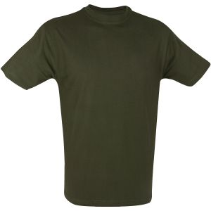 Camiseta Mil-Com en Olive Green