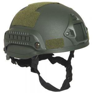 "Casco de combate con rieles Mil-Tec US ""M.I.C.H. 2002"" en verde oliva"