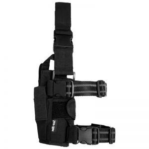 Funda de pistola para pierna ajustable Mil-Tec de Cordura en negro