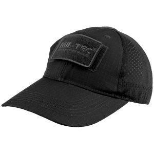 Gorra de béisbol de rejilla MFH en negro