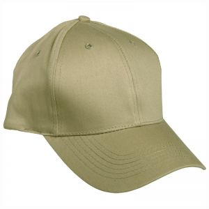 Gorra de béisbol Mil-Tec con banda de plástico en caqui