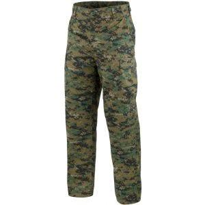 Pantalones de combate Mil-Tec BDU en Digital Woodland