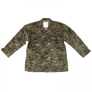 Camisa de combate Mil-Tec BDU en Digital Woodland