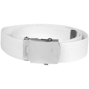Cinturón de tela Mil-Tec en blanco