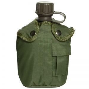 Cantimplora de 1 litro con funda Mil-Tec en verde oliva