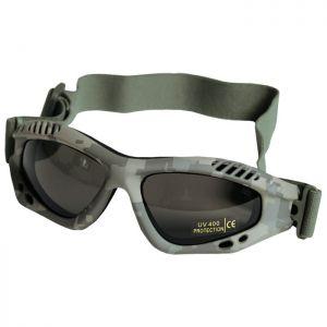 Gafas de protección Mil-Tec Commando Air Pro con lentes ahumadas y montura en ACU Digital
