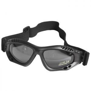 Gafas de protección Mil-Tec Commando Air Pro con lentes ahumadas y montura en negro