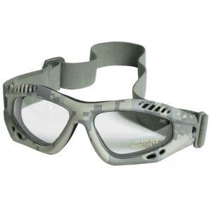 Gafas de protección Mil-Tec Commando Air Pro con lentes transparentes y montura en ACU Digital