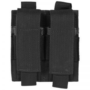 Portacargador doble de pistola Mil-Tec en negro