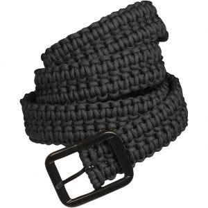 Cinturón de cuerda de paracaídas Mil-Tec en negro