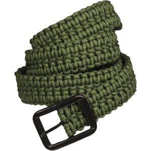 Cinturón de cuerda de paracaídas Mil-Tec en verde oliva