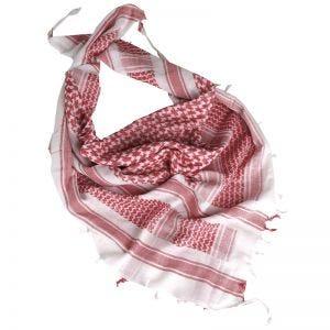 Pañuelo palestino Mil-Tec Shemagh en blanco / rojo