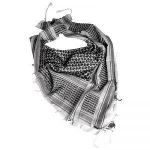 Pañuelo palestino Mil-Tec Shemagh en blanco / negro