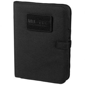 Cuaderno táctico con funda Mil-Tec de tamaño mediano en negro